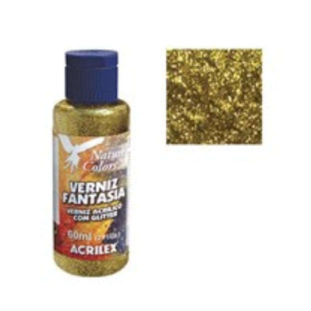 Acrilex Glitter Varnish 60ml Gold